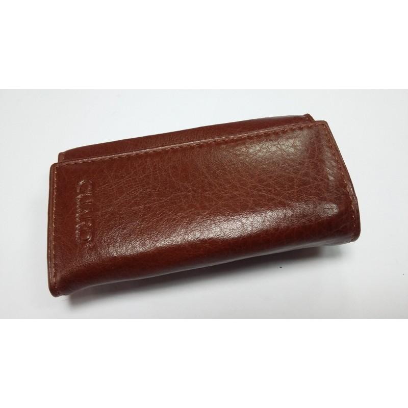 Кожаная ключница GUARD коричневая с зацепом на ремень 404 G 03  - фото 1